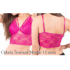 Kit 2 Soutien Cropped Renda Feminino Sexy Strappy Lingerie