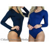 kit com 2 Body Feminino Manga Longa Costa Fechada Collant Blusa