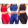 Kit 3 Top Fitness Alcinha Tela Lisa Academia Arraso Cropped