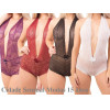 Body Renda Lingerie Decote Frente Unica Costa Nua Sensual