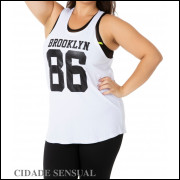 CAMIseta FITNESS PLUS SIZE DO MANEQUIM 46 AO 54 MODELO SILK