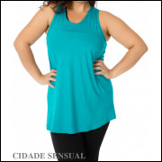 CAMIseta FITNESS PLUS SIZE DO MANEQUIM 46 AO 54 MODELO LISA